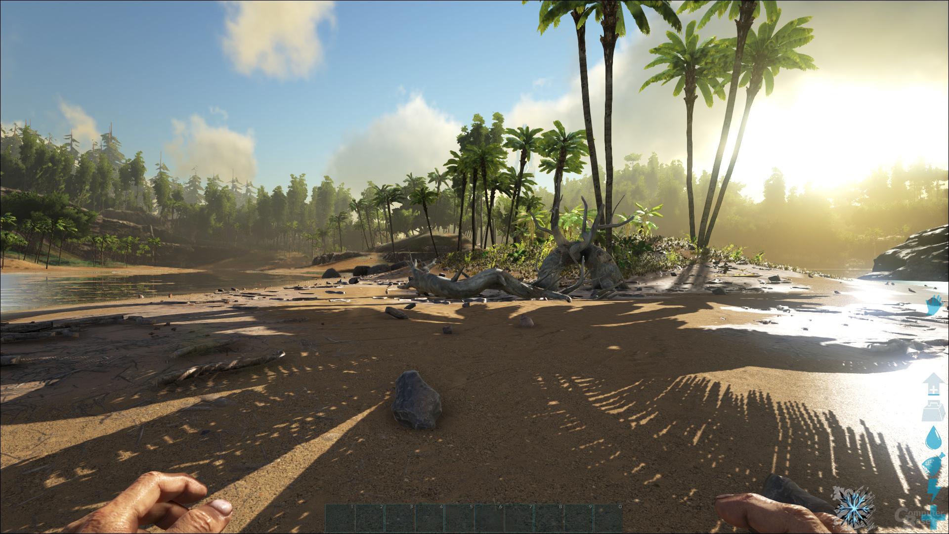 ARK: Survival Evolved – Mittel-Preset bei 100 % Auflösung