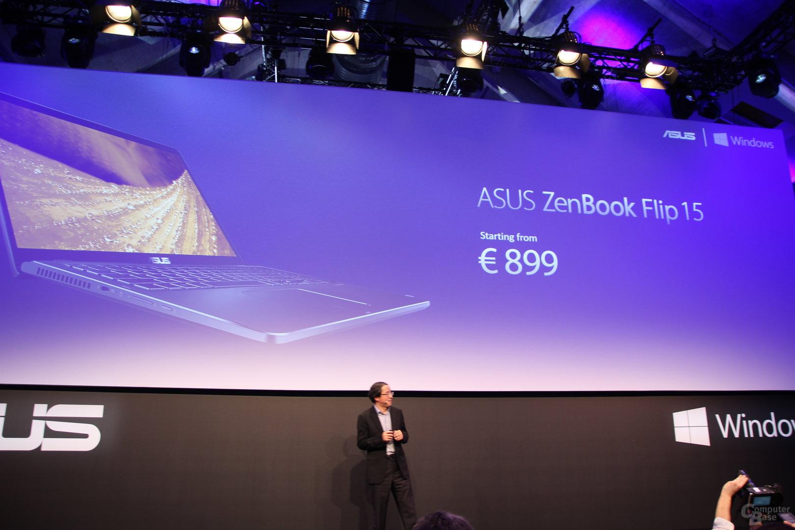 Asus ZenBook Flip 15 ab 899 Euro