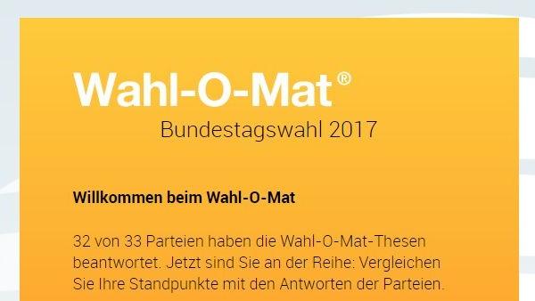 Bundestagswahl 2017: Offizieller Startschuss für den Wahl-O-Mat