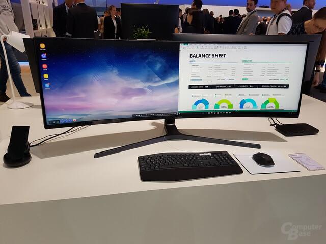 """Samsung C49HG90 in 32:9 ersetzt zwei 27""""-FHD-Displays 1:1"""