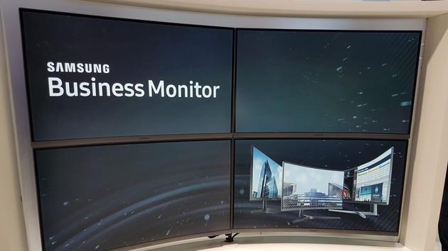 Samsung Display: Zur IFA gibts Business-Monitore auch gekrümmt