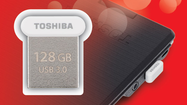 TransMemory U364: Toshibas kleinster USB‑Stick braucht Fingerspitzengefühl