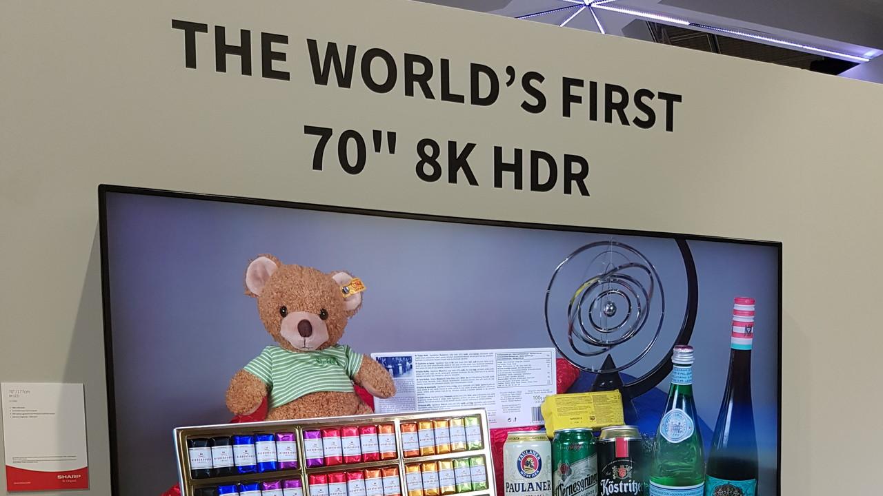 Sharp Aquos 8K: Erster 8K-Fernseher kommt im März 2018 nach Europa