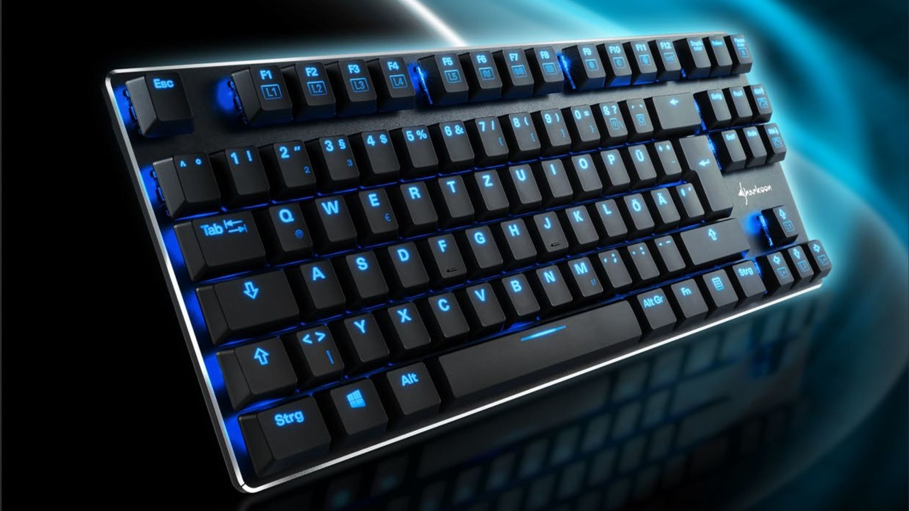 Sharkoon PureWriter TKL: Mit Schokoladentastern wird Mechanik flach