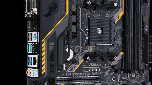 Asus TUF B350M-Plus Gaming: Erstes TUF-Mainboard für AMD Ryzen trägt B350-Chipsatz