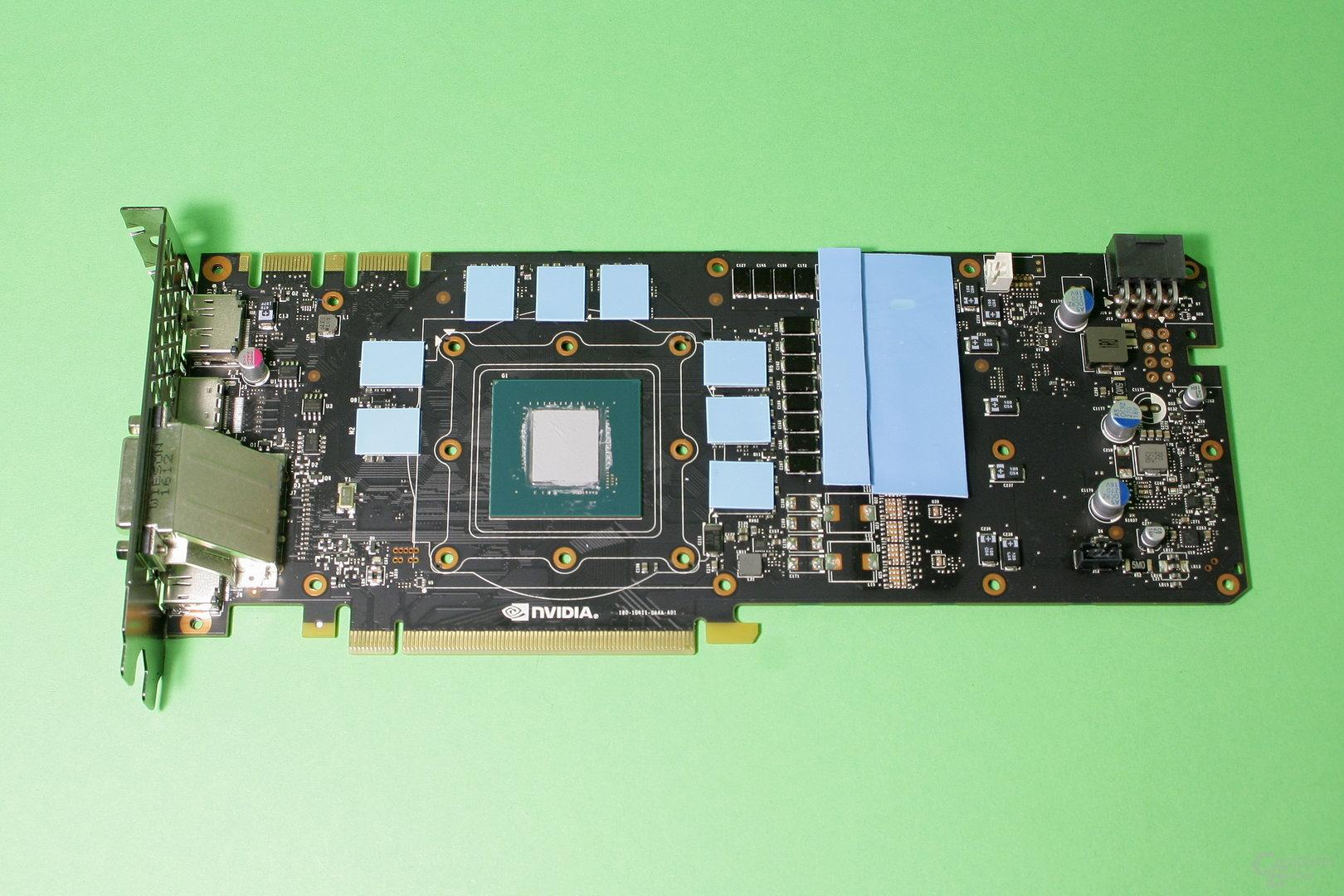 Nvidia GeForce GTX 1070: Vorbereitet für die Kühlermontage