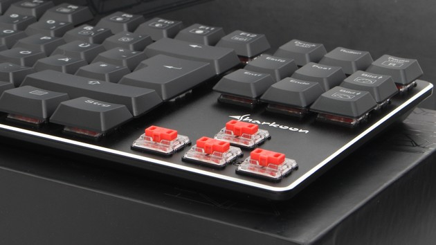 Sharkoon PureWriter TKL im Test: Schokotaster machen Mechanik flach