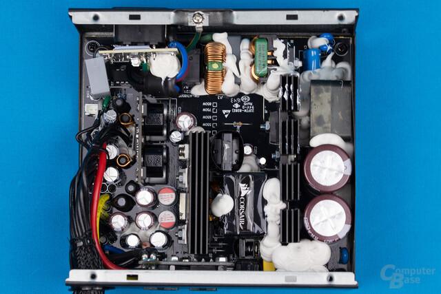 Corsair TX550M – Überblick Elektronik