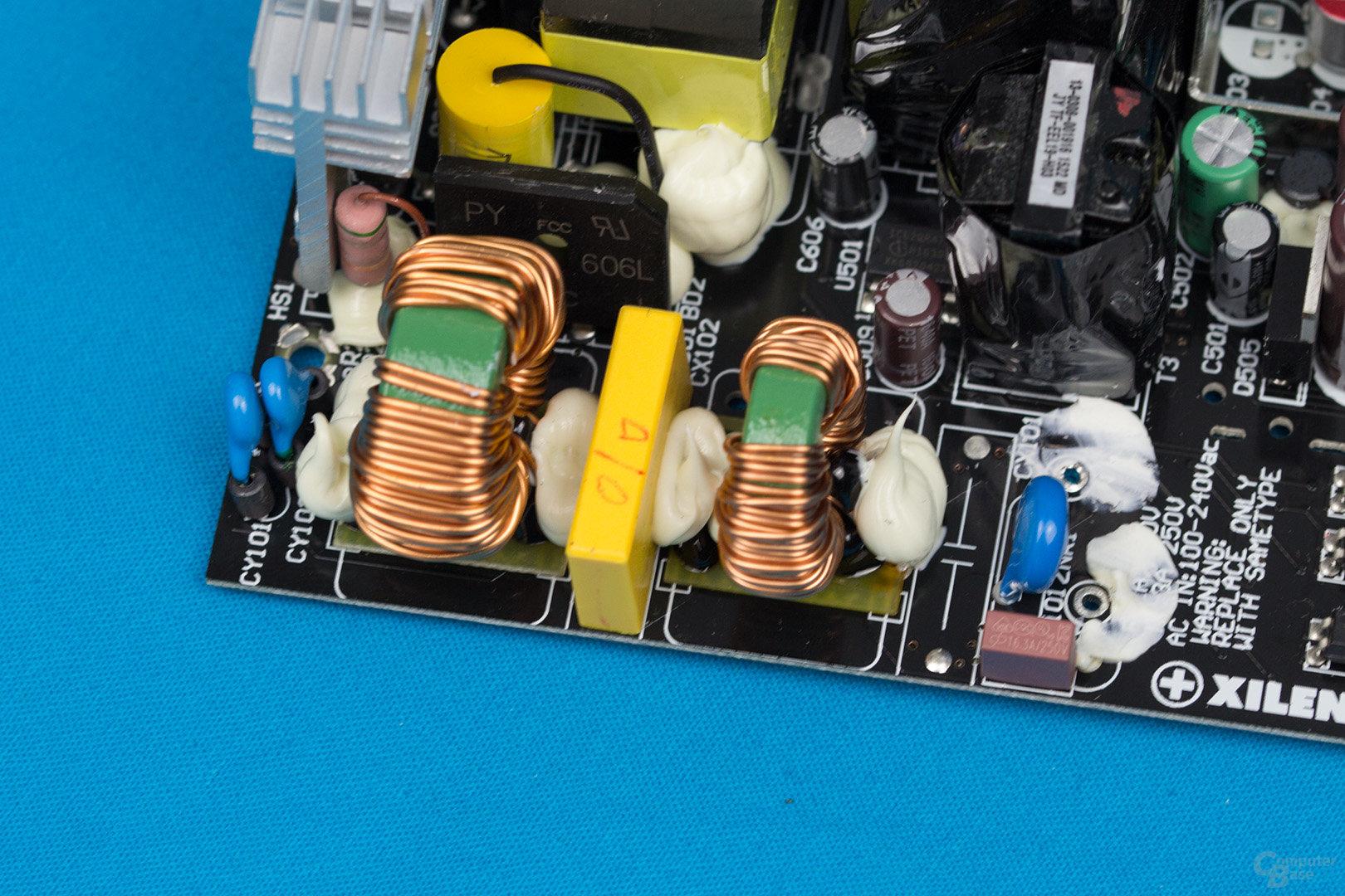 Xilence Performance X 550W – Eingangsfilter