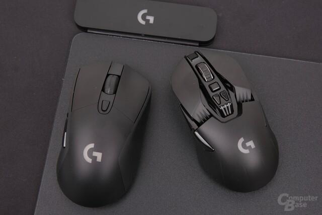 Zum Start unterstützen G703 (links) und G903 Powerplay