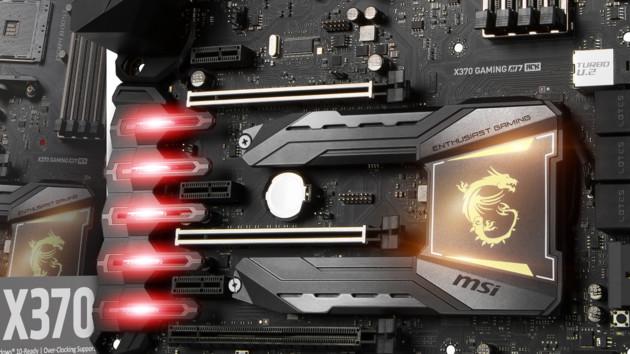 MSI X370 Gaming M7 ACK: Ryzen-Mainboard mit Dual-Killer-NIC kostet 229 Euro
