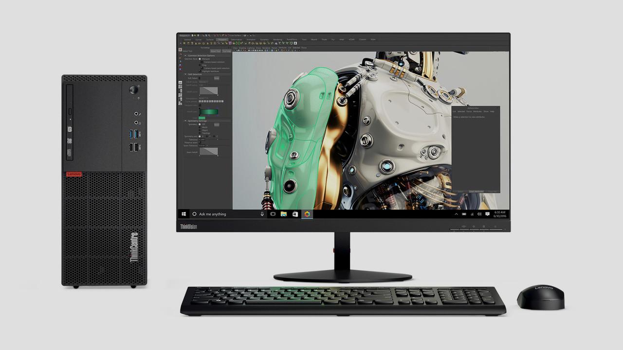 Lenovo ThinkCentre M715: Desktop-PC mit AMD Ryzen 5 Pro, SSD und Kepler-GPU