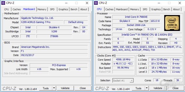 Gigabyte X299 Aorus Gaming 7 Pro eröffnet Overclocking-Spielraum