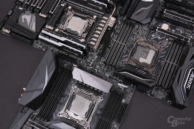 Intel Skylake-X mit 16 und 18 Kernen auf drei Mainboards im Test