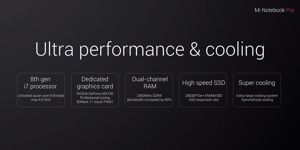 Vier-Kern-Prozessor, GeForce MX 150 und NVMe-SSD
