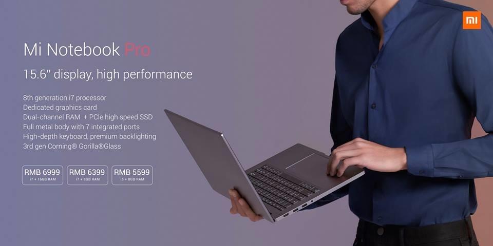 Das Xiaomi Mi Notebook Pro in drei Varianten