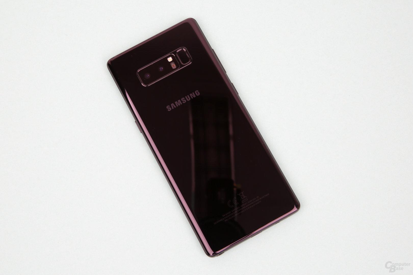 Rückseite des Galaxy Note 8