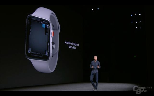 Apple Watch Series 3 mit LTE/UMTS-Modem im Apple W2
