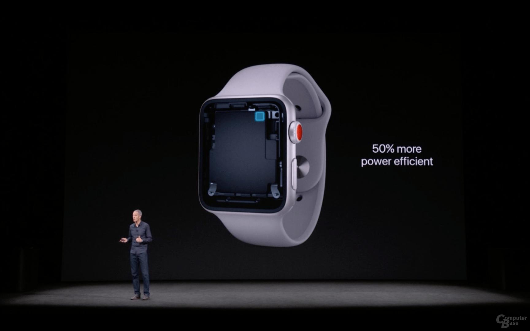 Apple Watch Series 3 mit 50 Prozent höherer Effizienz