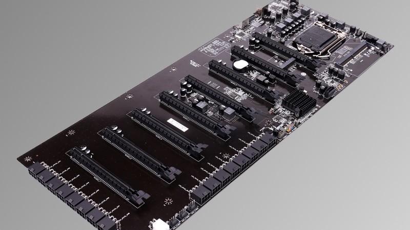 C.B250A-BTC Plus V20: 48,5 cm langes Mining-Board für 8 Dual-Slot-Grafikkarten