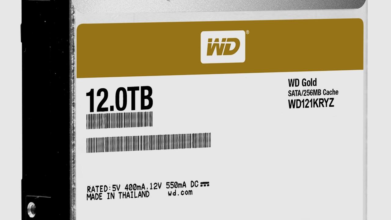 WD Gold: 12 TB Speicherplatz für Western Digitals Server-HDDs