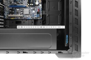 Enermax GraceFun – Mit Lüfter bleiben in der Front gut 42 mm Platz