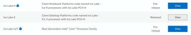 Ice Lake für alle Marktsegmente