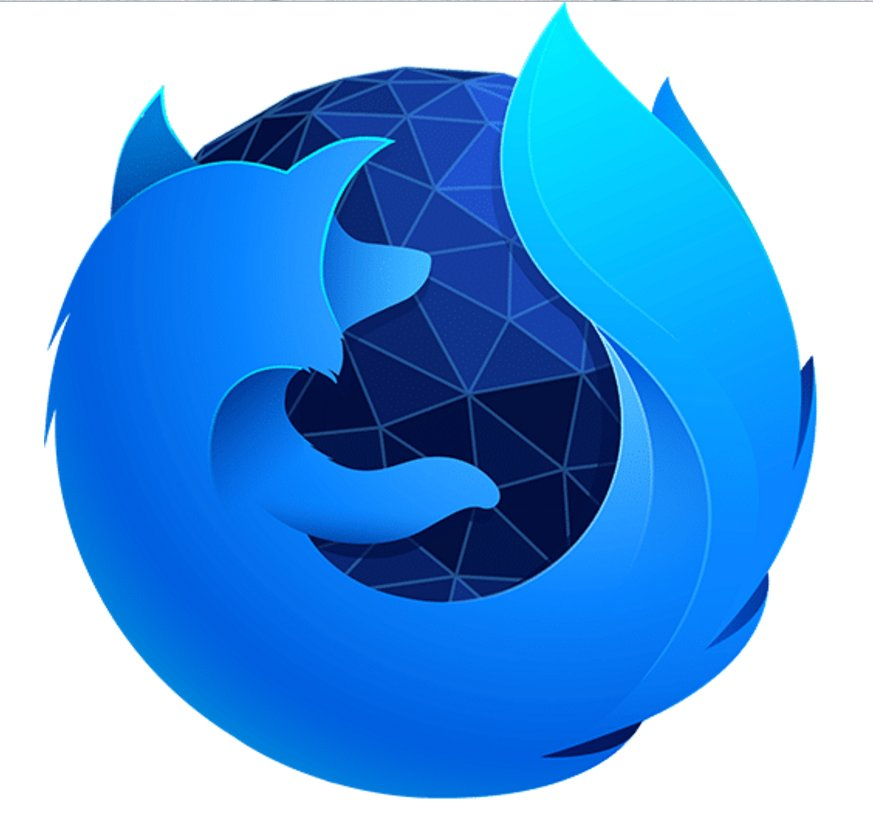 Firefox 57 Logo in blau