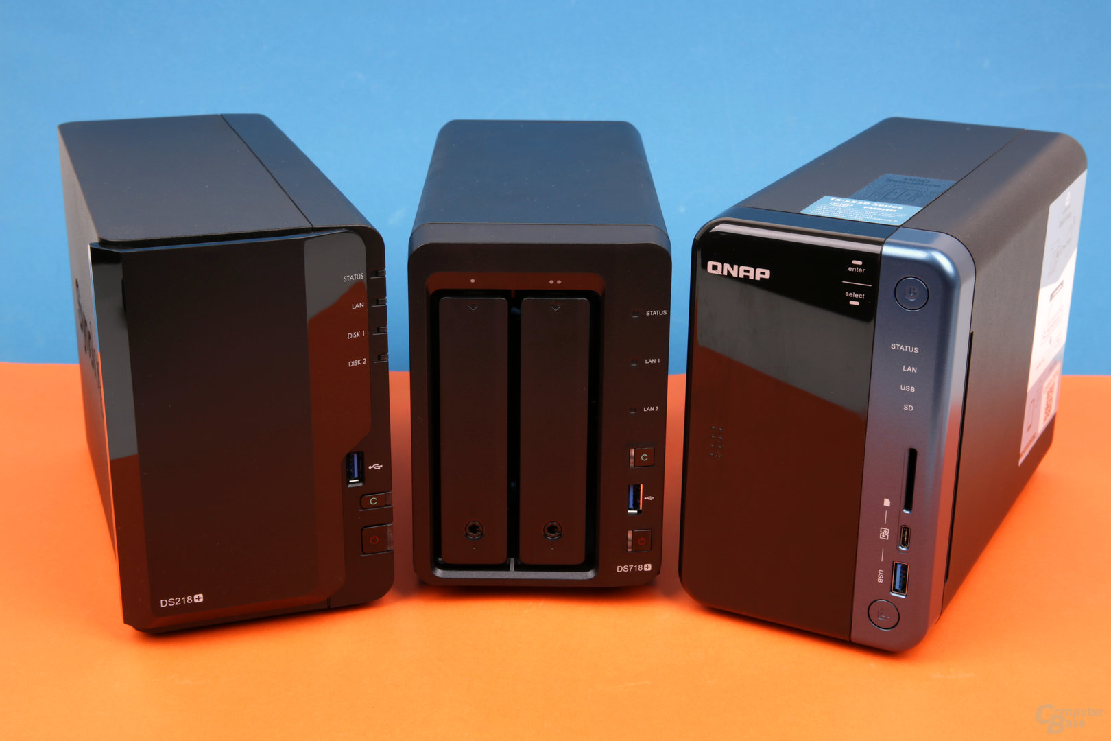 Synology DS218+, DS218+ und QNAP TS-253B