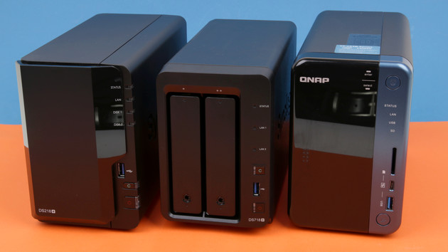 NAS-Neuauflagen im Test: Synology DS718+ & DS218+ gegen QNAP TS‑253B