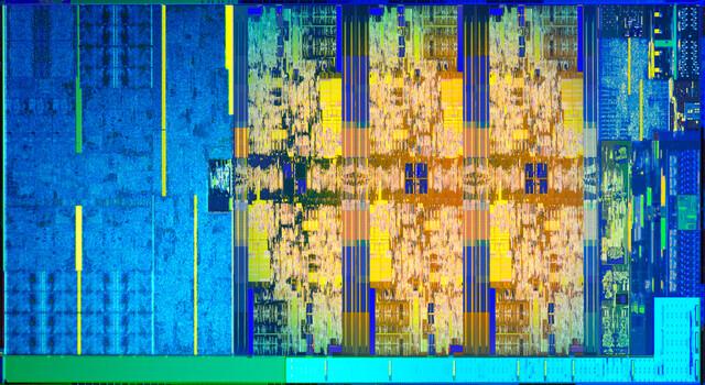 Coffee Lake: Grafikeinheit links, sechs Kerne mittig rechts, Rest ist I/O, PCIe, DDR