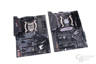 Gigabyte Aorus Z370 Gaming Ultra und Asus Maximus X Hero mit Z370