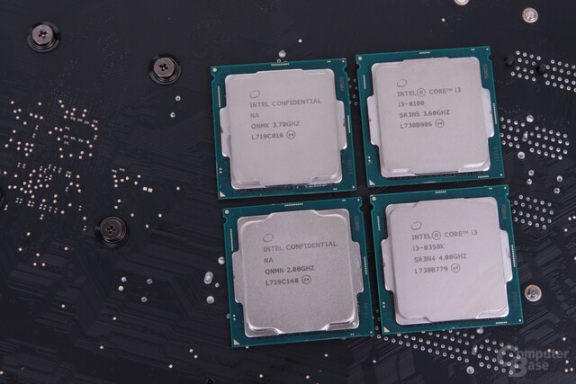 Coffee Lake im Test: Core i7-8700K, i5-8400, i3-8350K -8100