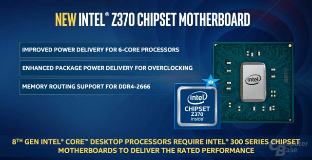 Z370-Chipsatz für neuen Mainboards
