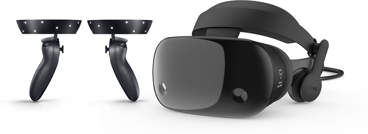 Samsung Mixed Reality Headset mit Controllern