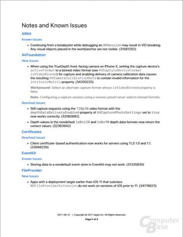 iOS 11.1 Beta - Release Notes I
