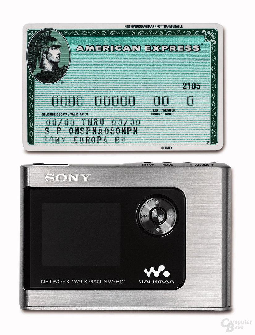 Sonys Network Walkman NW-HD1 ist verdammt klein: 89x62,1x 13,8 mm
