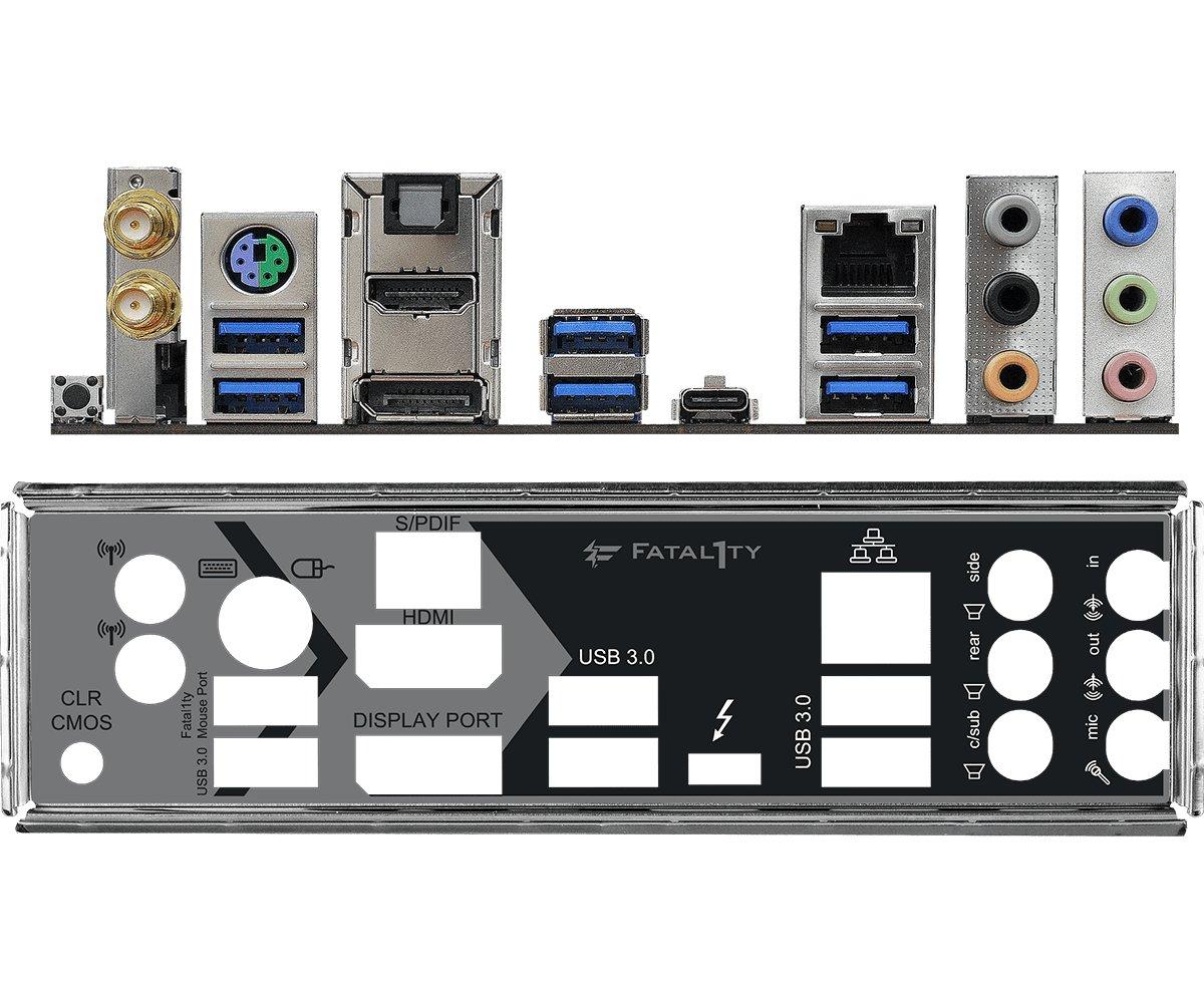 I/O-Blende am Fatal1ty Z370 Gaming-ITXac