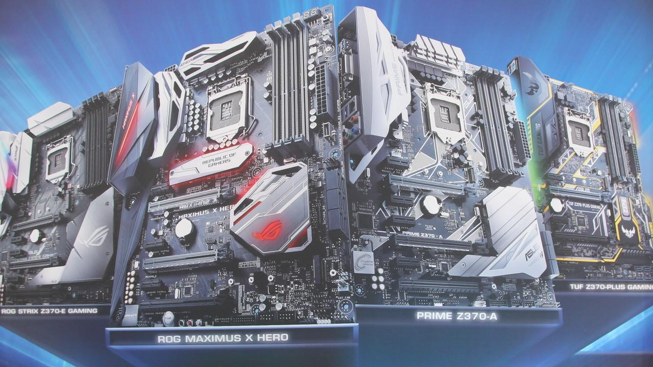Asus-Mainboards: 15 Z370-Platinen für Intel Coffee Lake enthüllt