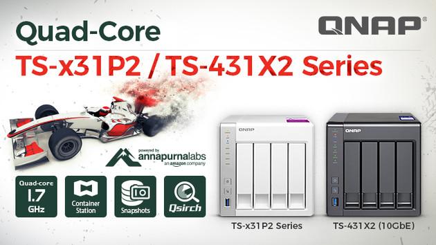 NAS: QNAP TS-x31P2 und TS-431X2 wechseln auf Vier-Kern-SoC