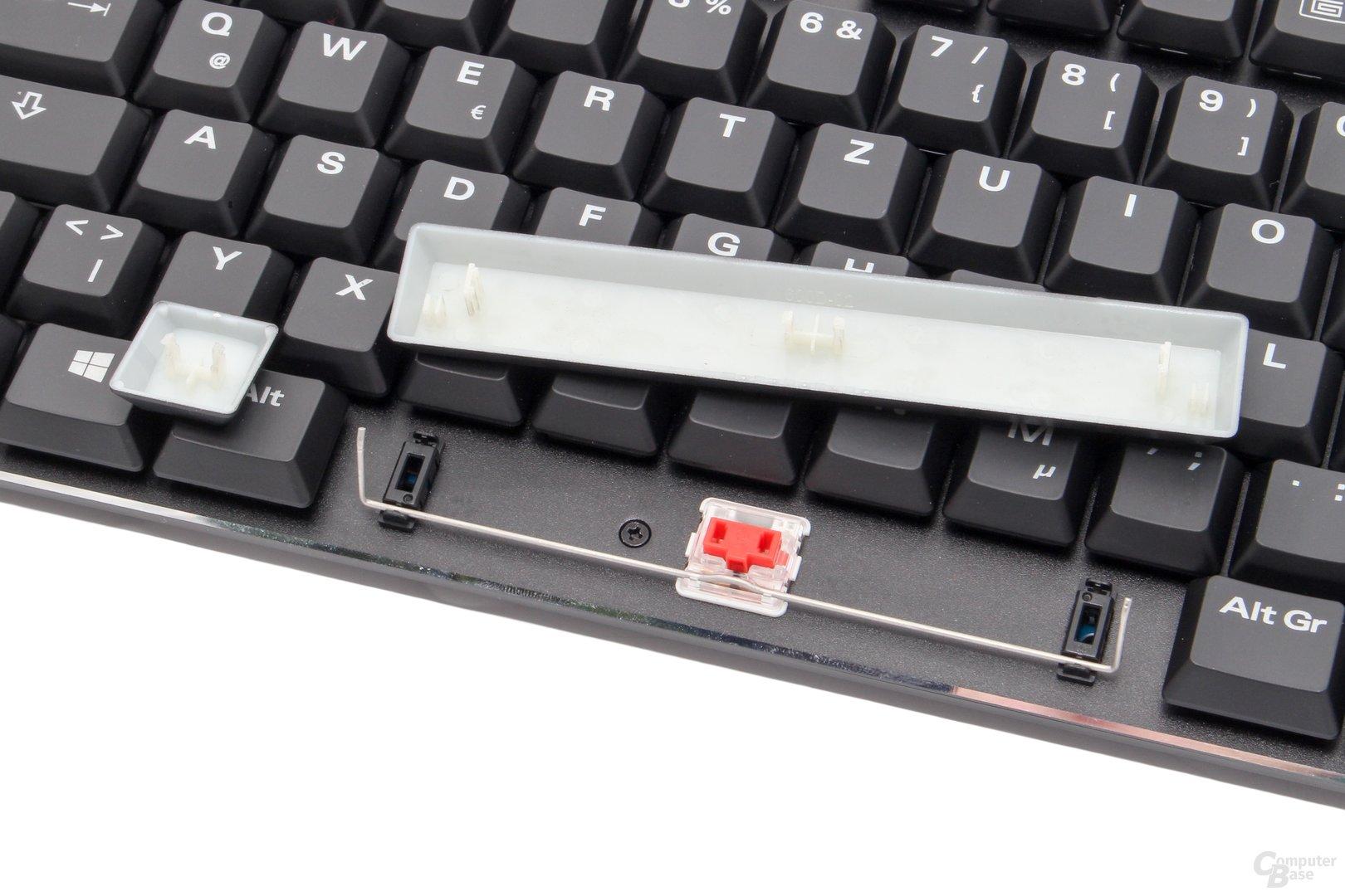 Analog zu Cherrys ML-Serie besitzen Chocolote-Taster andere Aufnahmen für ihre Kappen