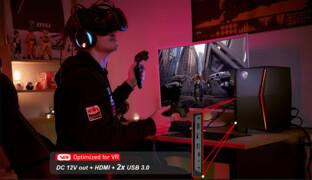 MSI Vortex G25 Front für VR-Headsets