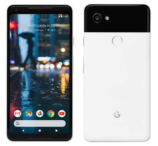 Pixel 2 XL in Schwarz-Weiß