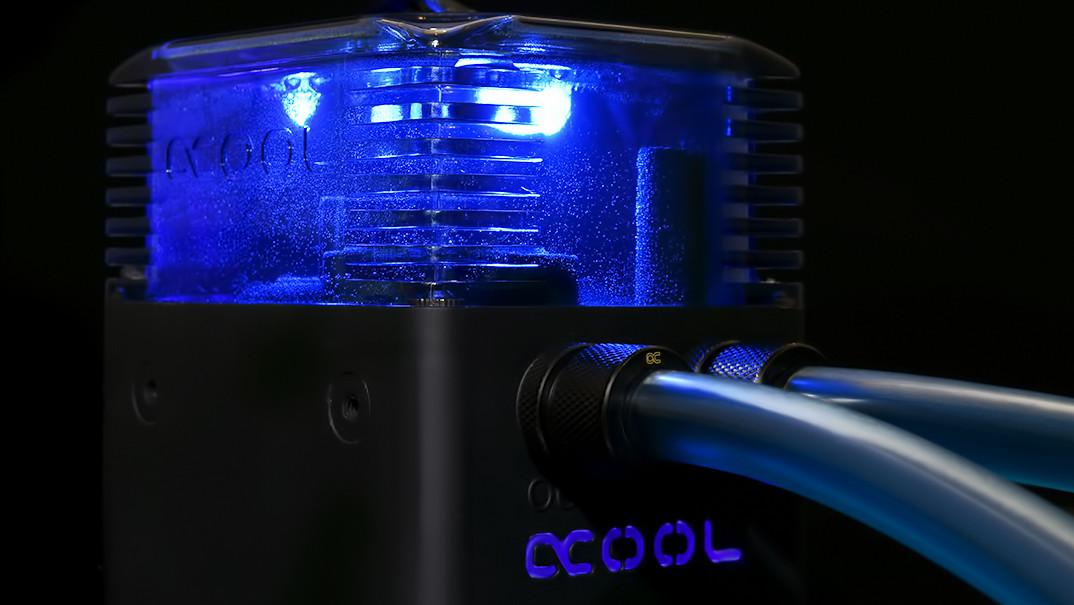 Alphacool Eisstation: Pumpendeckel mit Nylon-AGB für DDC, D5 und DC-LT