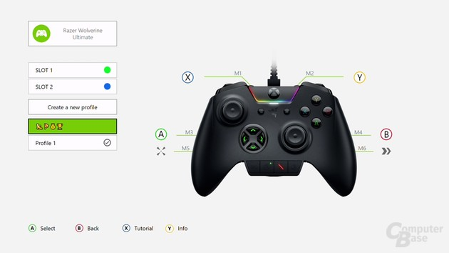 Die App (Xbox, Windows 10) zur Konfiguration ist übersichtlich