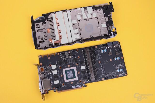 Das Kühlsystem der EVGA FTW3 Elite mit vielen Wärmeleitpads