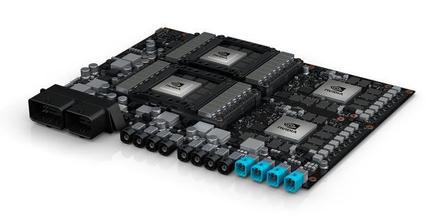 Drive PX Pegasus mit 2 × Xavier-SoC und 2 × Volta-Nachfolger
