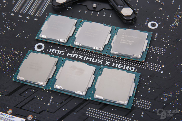 Sechs Intel Coffee Lake im Test