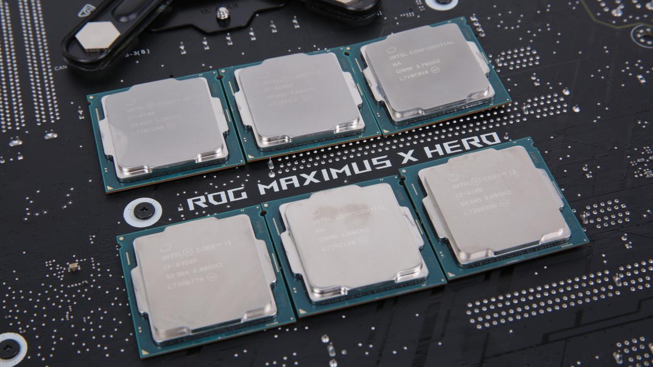 Core i7-8700 und i5-8600K im Test: Alle Coffee-Lake-CPUs