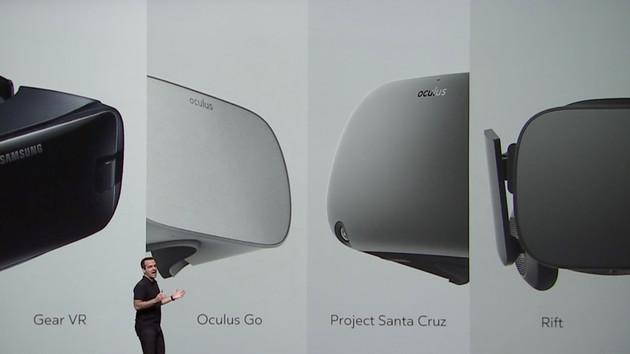 Oculus Go und Santa Cruz: Neues Standalone- und autarkes 6DoF-High-End-HMD